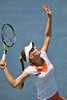 16 July 2008:  Anna Chakvetadze of Russia during her 6-3, 6-4 victory over Shahar Peer of Israel in their second round singles match at the Bank of the West Classic in Stanford, CA.