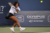16 July 2008:  Serena Williams of the United States during her 4-6, 6-3, 6-2 victory over Michelle Larcher de Brito of Portugal in their second round singles match at the Bank of the West Classic in Stanford, CA.