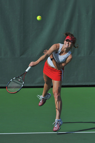 01 February 2008: Lindsay Burdette during Stanford's 6-1 victory over the UNLV Lady Rebels at the Taube Tennis Stadium in Stanford, CA.