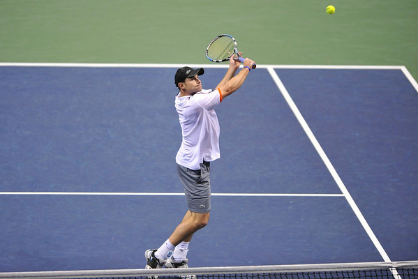23 February 2008: Andy Roddick of the United States during his SAP Open semi-final win, 7-6, 6-1, over Guillermo Garcia-Lopez of Spain at the HP Pavilion in San Jose, CA.
