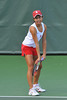 01 February 2008: Hilary Barte during Stanford's 6-1 victory over the UNLV Lady Rebels at the Taube Tennis Stadium in Stanford, CA.