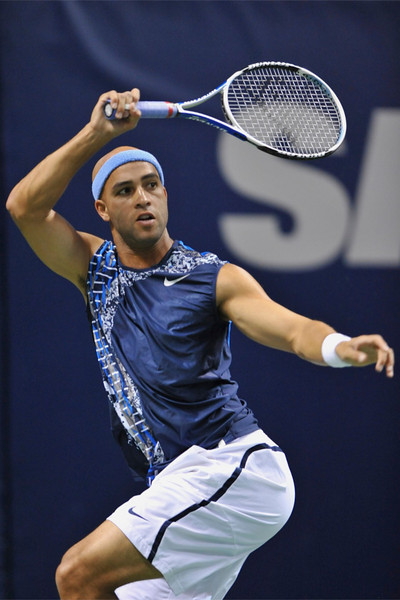 21 February 2008: James Blake of the United States during his SAP Open second round, 6-3, 6-4, win over Jesse Levine of the United States at the HP Pavilion in San Jose, CA.