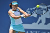 14 July 2008:  Ai Sugiyama of Japan during her 6-2, 3-6, 7-5 victory over Alexa Glatch of the United States in their first round singles match at the Bank of the West Classic in Stanford, CA.