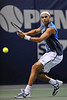 22 February 2008: James Blake of the United States during his SAP Open third round upset loss to Robby Ginepri of the United States at the HP Pavilion in San Jose, CA.