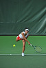 01 February 2008: Jessica Nguyen during Stanford's 6-1 victory over the UNLV Lady Rebels at the Taube Tennis Stadium in Stanford, CA.
