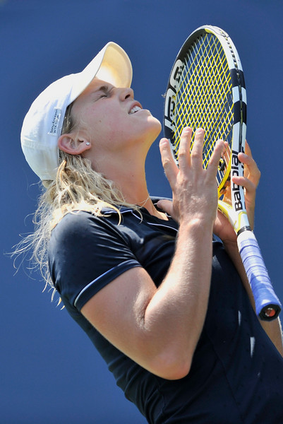 14 July 2008:  Alexa Glatch of the United States during her 2-6, 6-3, 5-7 loss to Ai Sugiyama of Japan in their first round singles match at the Bank of the West Classic in Stanford, CA.