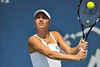 16 July 2008:  Kateryna Bondarenko of Ukraine during her 2-6, 3-6 loss to Dominika Cibulkova of Slovakia in their second round singles match at the Bank of the West Classic in Stanford, CA.