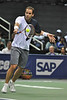 18 February 2008: Pete Sampras during his exhibition win, 6-4, 6-2, over Tommy Haas during the SAP Open at the HP Pavilion in San Jose, CA.