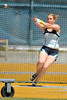 25 April 2008: Stanford Assistant Coach Sarah Veress during the Brutus Hamilton Invitational at Edwards Stadium / Goldman Field in Berkeley, CA.  Veress won the Women's Hammer Throw event with a 66.30 meter throw.