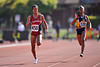 04 May 2008: Stanford's Griffin Matthew during the Payton Jordan Cardinal Invitational at the Cobb Track and Angell Field in Stanford, CA.  Matthew won the women's 100 meter dash with a time of 11.70 seconds.