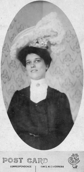 "Undated Charlotte ""Lottie"" A. (Lukens) Brandt, 1882-1968. She was the sister of Susan Veronica (Lukens) Keating."