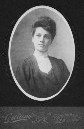 "Undated Charlotte ""Lottie"" A. (Lukens) Brandt, 1882-1968. She was the sister of Susan Veronica (Lukens) Keating. The same photos exists in the Gotsch / Bruton collection of photos."