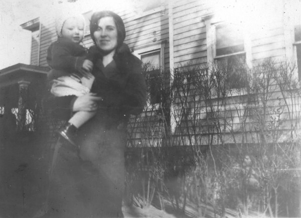Undated 523 8th Avenue, Belmar, NJ Susan Maria (Keating) Kuck with son, Martin Kuck.