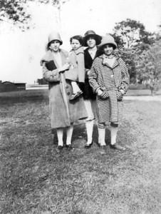 Undated, about 1928 LEFT TO RIGHT - Anna Regina (Keating) Morris, Veronica (Keating) Golaszewski, Susan Marie (Keating) Kuck and unknown.
