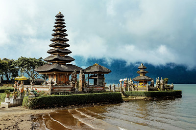 Pura Ulun Danu water temple on a lake Beratan. Bali