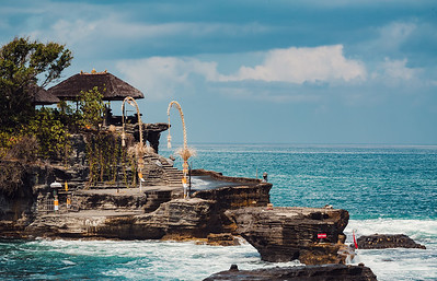 Tanah Lot temple in Bali Indonesia