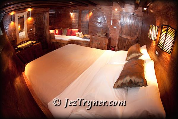 Toraja cabin, Arenui, Raja Ampat, Indonesia, Indian ocean, Asia