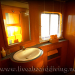 Master cabin bathroom, Mermaid 1, Satonda island, Sumbawa, Java sea, Indian Ocean, Indonesia, Asia