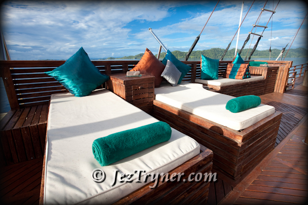 Relaxtion area, Arenui, Raja Ampat, Indonesia, Indian ocean, Asia