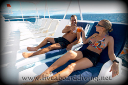 Sundeck, Mermaid 1, Satonda island, Sumbawa, Java sea, Indian Ocean, Indonesia, Asia