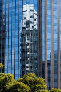 Skyscraper windows reflection