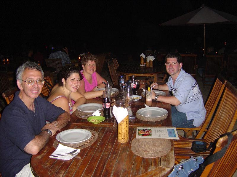 Me and the Fam having dinner at Jimbaran.