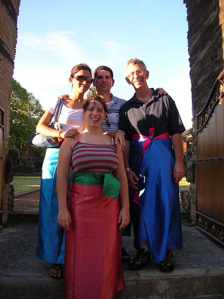 Lavina, Muaa, Dad, and Lauren (sis) at a Hindu temple