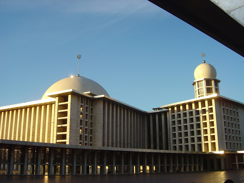 Grand Mosque, Istiqlal, in Jakarta. This mosque is the biggest mosque in Asia.