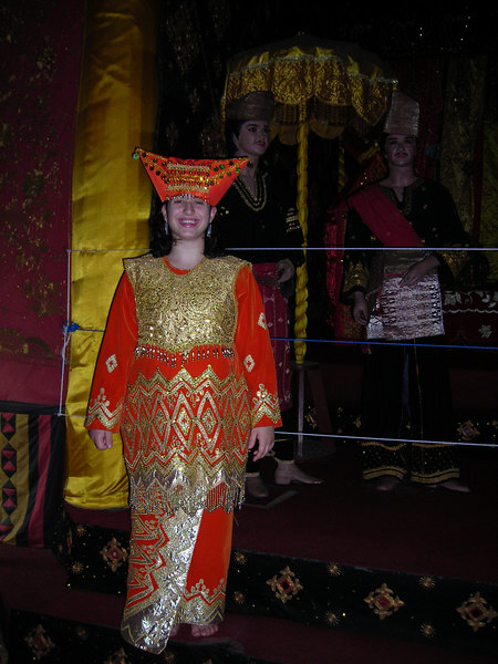 Lauren wearing a traditional ethnic wedding dress