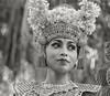 Portrait of a Balinese dancer in traditional attire #2 BW, Dragon Bridge, Monkey Forest, Ubud, Bali