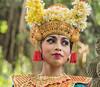 Portrait of a Balinese dancer in traditional attire #2, Dragon Bridge, Monkey Forest, Ubud, Bali