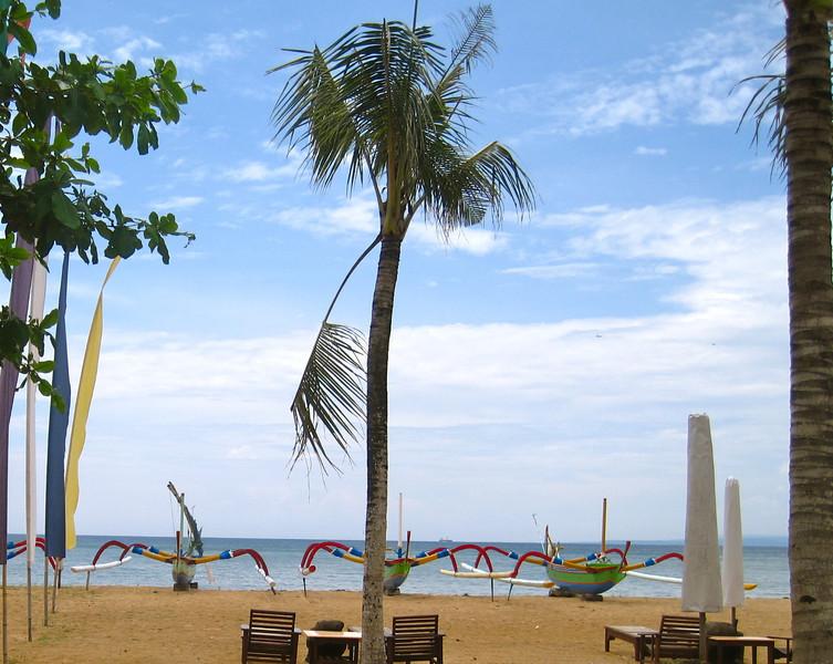 Boats on the beach, Bali