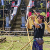 Constructing the Galungan Decorations at the Temple