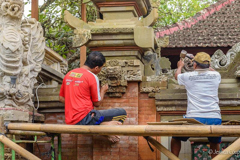 Repairing Ubud Palace