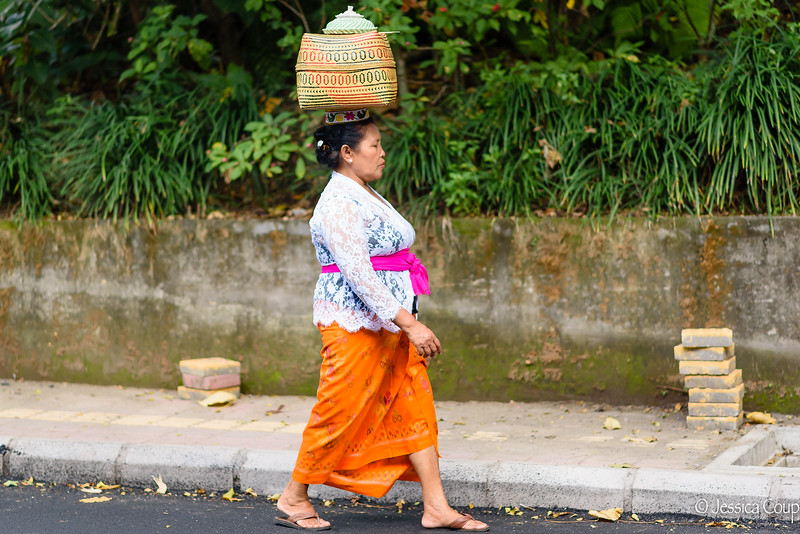 Walking to Temple