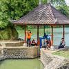 Fishing Outside the Taman Ayun Temple
