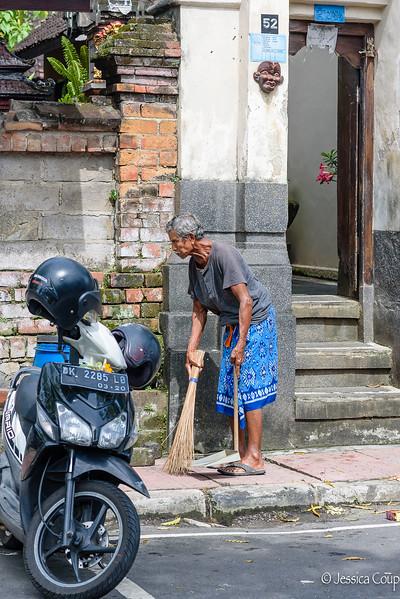 Sweeping the Sidewalk