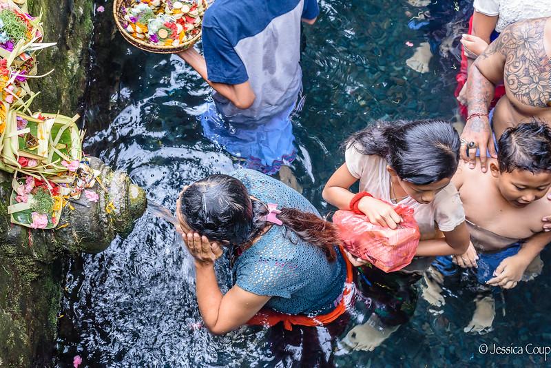 Purification Waters at Tirta Empul Temple