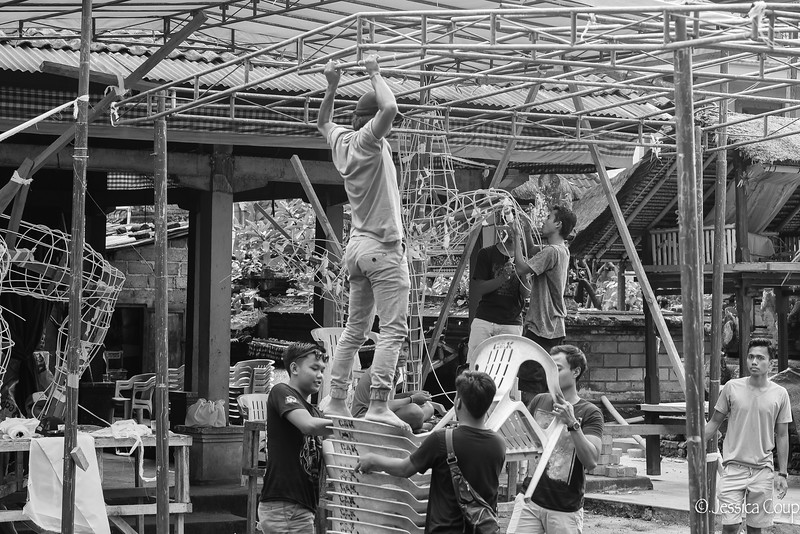 Standing Tall to Build the Floats