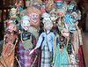 Balinese puppet dolls for sale on the Monkey Forest Road in Ubud, Bali, Indonesia in June 2011.