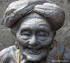 Statue of an old woman in Ubud, Bali, Indonesia in June 2011