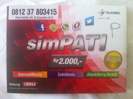 Bali SIM Card for iPhone