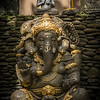 Little Buddha and big Ganesh. Ubud.