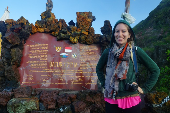 1717 meters and I reached Mount Batur!