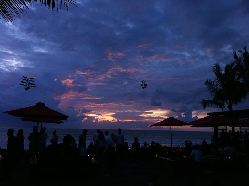 Spectacular views at Ku De Ta, a Bali institution