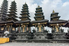 3,5,7,9, and 11 tiered merus at the upper levels of Pura Penataran Agung, Pura Besakih Hindu temple complex, Bali, Indonesia