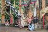 The evil witch Rangda arrives on stage, Calon Arang traditional dance, Sahadewa Barong Dance, Ubud, Bali