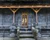 Gilded bas relief door on a bale (pavilion) Pura Penataran Agung, Pura Besakih temple complex, Bali, Indonesia