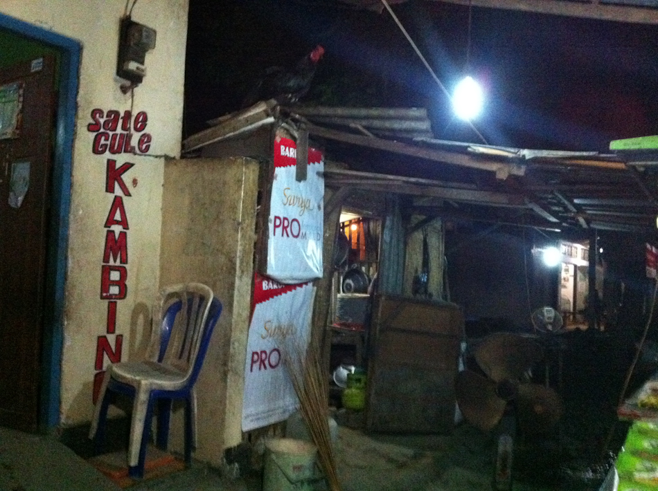 Sate Gule (Chicken Satay) restaurant in Menjangan