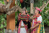 Prime minister (Empu Bharad) and disciple (Empu Bahuta) from the Calon Arang Balainese dance, Ubud, Bali